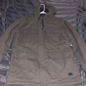 Oneill edge water parka military style jacket